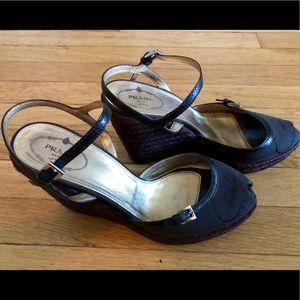 Prada 4.5ing heel wedges
